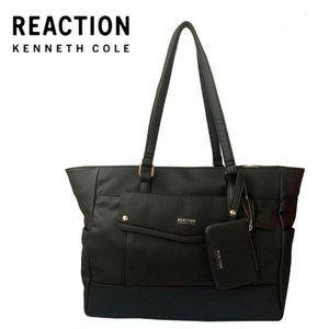 Kenneth Cole Tote Handbag Black Color